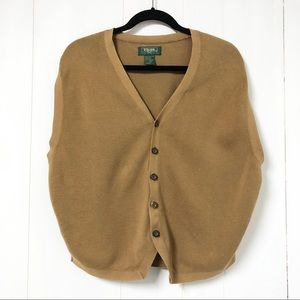 Jackets & Blazers - Vintage Camel Coloured Grandpa Vest
